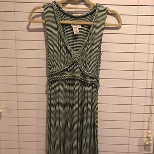 Kelly green and white stripe Maxi